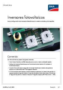 Inversores fotovoltaicos