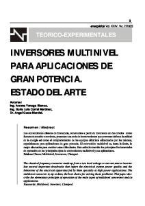 INVERSORES MULTINIVEL PARA APLICACIONES DE GRAN POTENCIA. ESTADO DEL ARTE