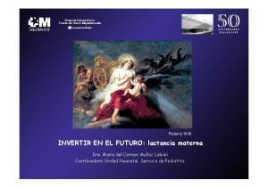 INVERTIR EN EL FUTURO: lactancia materna