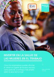 INVERTIR EN LA SALUD DE LAS MUJERES EN EL TRABAJO