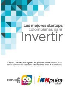 Invertir. Las mejores startups colombianas para