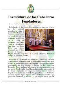 Investidura de los Caballeros Fundadores