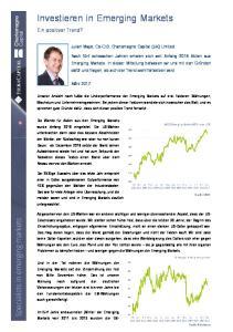 Investieren in Emerging Markets