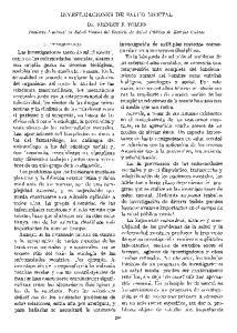 INVESTIGACIONES DE SALUD MENTAL