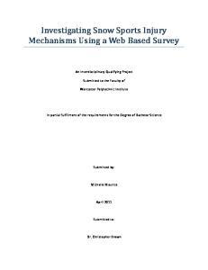 Investigating Snow Sports Injury Mechanisms Using a Web Based Survey