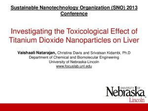 Investigating the Toxicological Effect of Titanium Dioxide Nanoparticles on Liver
