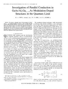 Investigation of Parallel Conduction in