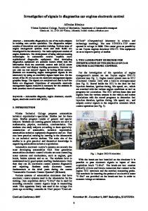 Investigation of signals in diagnostics car engines electronic control