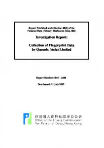 Investigation Report: Collection of Fingerprint Data by Queenix (Asia) Limited