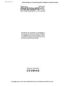 INVESTIGIUMIRE. Ciencias Sociales y Humanas
