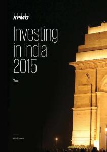 Investing in India 2015