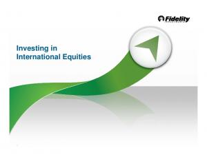 Investing in International Equities