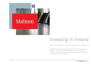Investing in Ireland. The benefits for international companies