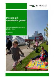Investing in sustainable growth