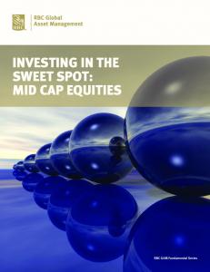 INVESTING IN THE SWEET SPOT: MID CAP EQUITIES