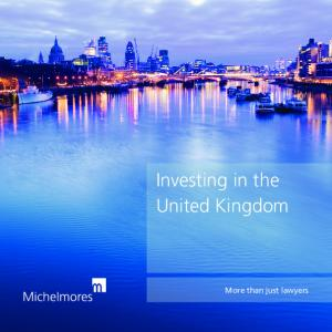 Investing in the United Kingdom. More than just lawyers