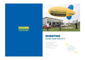 INVESTING Quarterly Update Report 2014