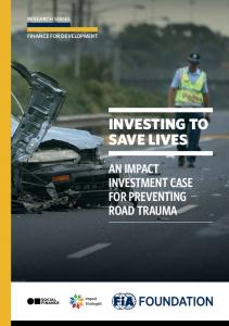 INVESTING TO SAVE LIVES