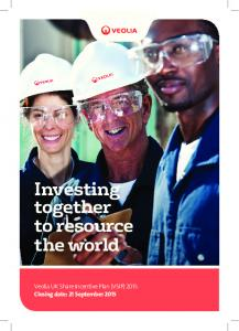 Investing together to resource the world
