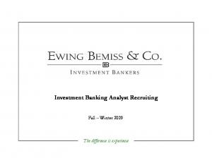 Investment Banking Analyst Recruiting