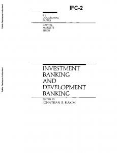 INVESTMENT BANKING AND DEVELOPMENT BANKING
