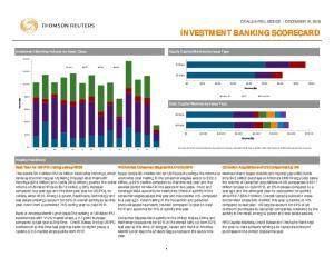 INVESTMENT BANKING SCORECARD