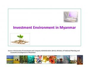 Investment Environment in Myanmar