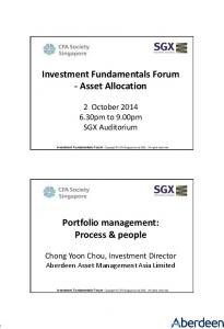 Investment Fundamentals Forum - Asset Allocation