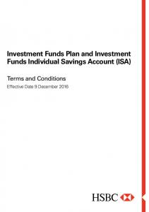 Investment Funds Plan and Investment Funds Individual Savings Account (ISA)
