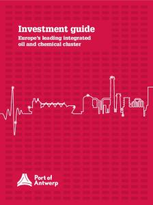 Investment guide. Europe s leading integrated oil and chemical cluster