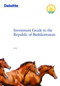 Investment Guide to the Republic of Bashkortostan