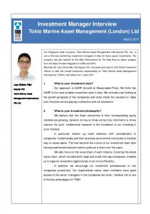 Investment Manager Interview