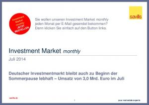 Investment Market monthly