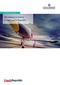 INVESTMENT OPPORTUNITIES. Aerospace Industry in the Czech Republic. CzechRepublic
