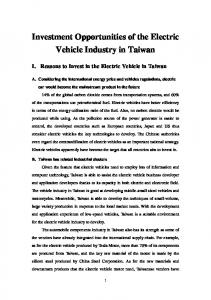 Investment Opportunities of the Electric Vehicle Industry in Taiwan