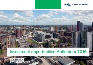 Investment opportunities Rotterdam 2016