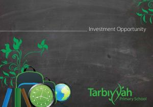 Investment Opportunity. Primary School