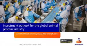 Investment outlook for the global animal protein industry