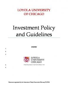Investment Policy and Guidelines