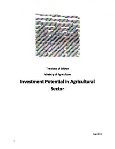 Investment Potential in Agricultural Sector