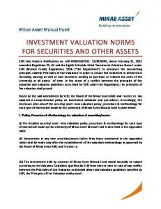 INVESTMENT VALUATION NORMS FOR SECURITIES AND OTHER ASSETS