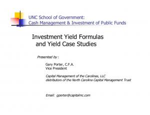 Investment Yield Formulas and Yield Case Studies