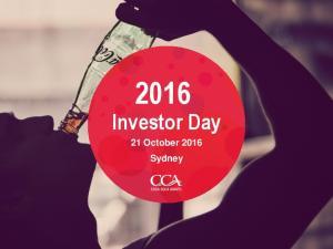 Investor Day. 21 October 2016 Sydney
