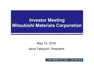 Investor Meeting. May 13, 2016