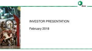 INVESTOR PRESENTATION. February 2018