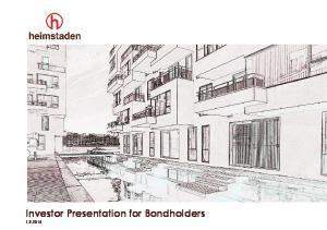 Investor Presentation for Bondholders