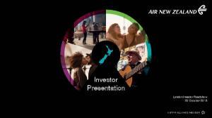 Investor Presentation. London Investor Roadshow 20 October 2016