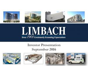 Investor Presentation September 2016