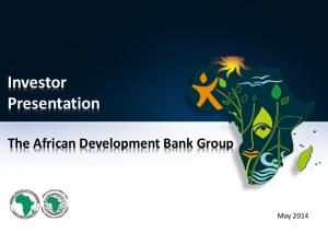 Investor Presentation. The African Development Bank Group