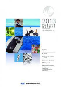 Investors Guide Year ended March 31, 2013